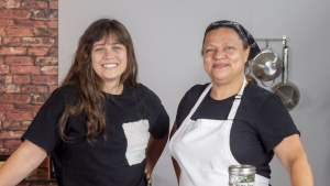 Claire McCann | Culinary Manager (left) & Chef Porsche Combash | Holistic Chef Instructor (right)