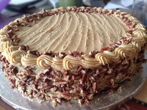 Cake with Pecans made by Holistic Chef Instructor, Margy Sommer