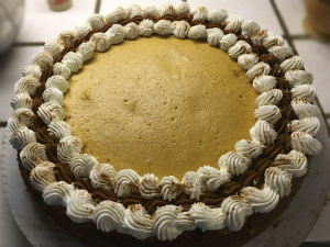 Pumpkin Cheesecake made by Holistic Chef Instructor, Margy Sommer