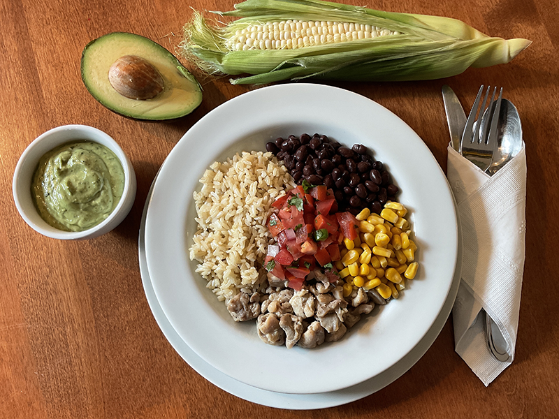 Healthy Mexican Bowl by Chef Paty Stewart